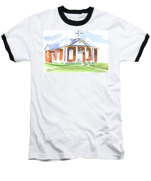 Baseball T-Shirt featuring the painting Fort Hill Methodist Church by Kip DeVore