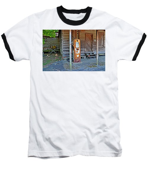 Baseball T-Shirt featuring the photograph Forty Nine Cents Per Gallon by Linda Brown