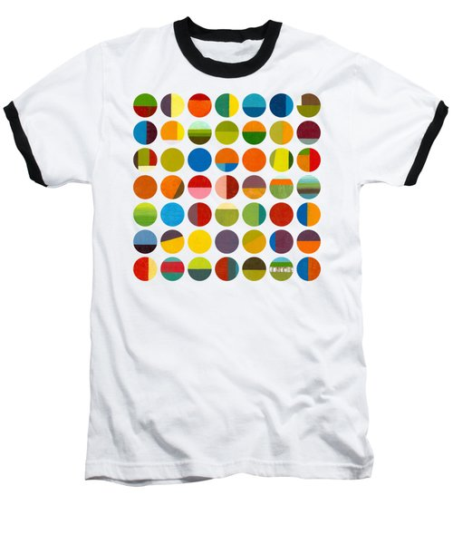 Forty Nine Circles Baseball T-Shirt by Michelle Calkins