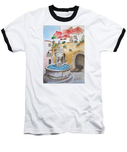 Fountain At St Paul De Vence Baseball T-Shirt by Marilyn Zalatan