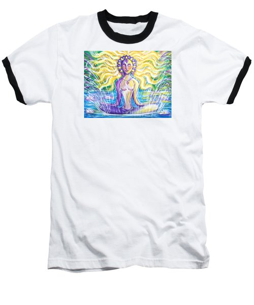 Baseball T-Shirt featuring the painting Fountain Of Youth by Anya Heller