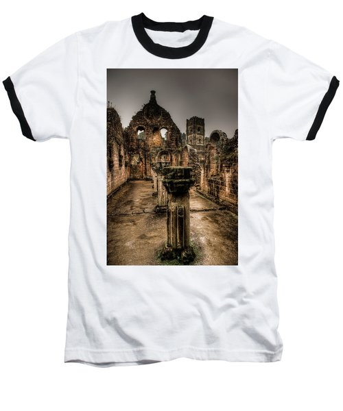 Fountains Abbey In Pouring Rain Baseball T-Shirt