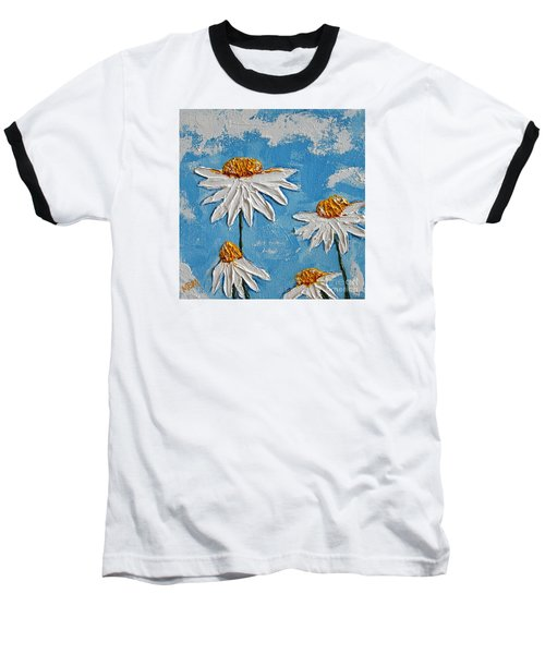 Four Daisies Baseball T-Shirt