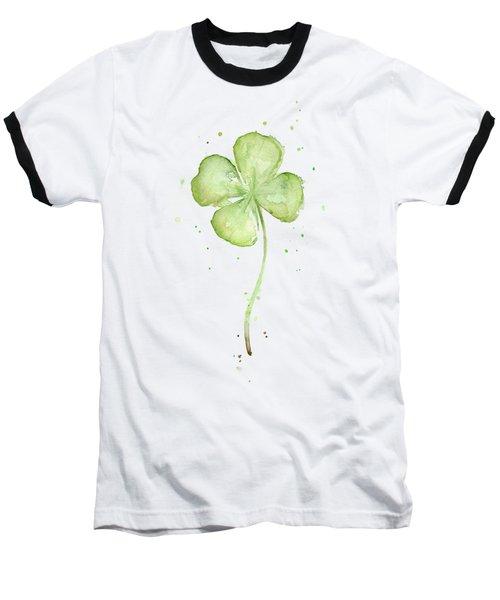 Four Leaf Clover Lucky Charm Baseball T-Shirt by Olga Shvartsur