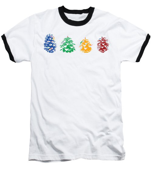Four Pine Cones Baseball T-Shirt