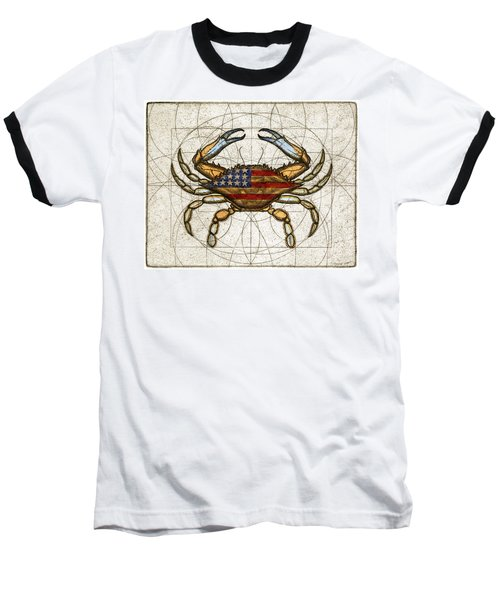 Fourth Of July Crab Baseball T-Shirt