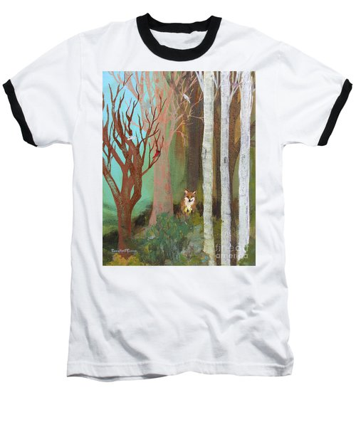 Fox In The Forest  Baseball T-Shirt