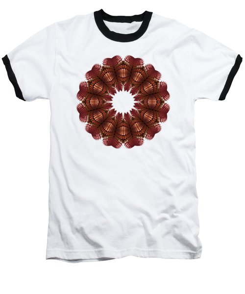 Fractal Wreath-32 Salmon T-shirt Baseball T-Shirt