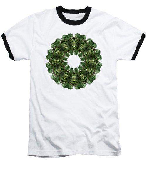 Fractal Wreath-32 Spring Green T-shirt Baseball T-Shirt