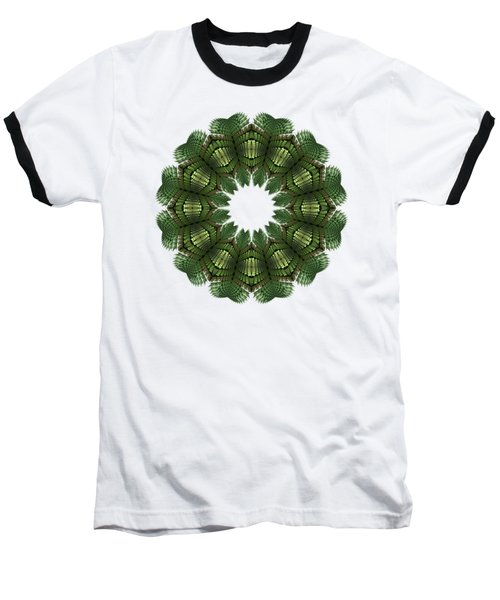 Fractal Wreath-32 Spring Green T-shirt Baseball T-Shirt