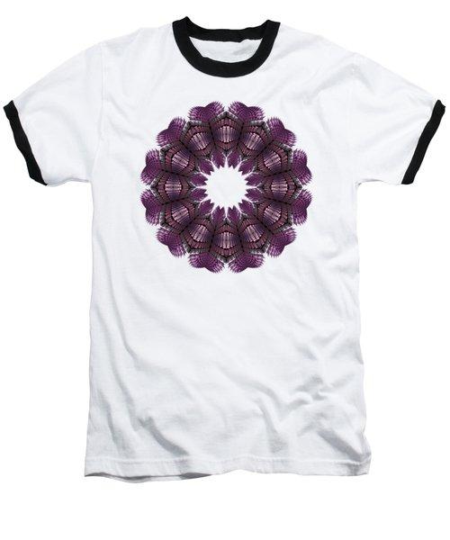 Fractal Wreath-32 Violet T-shirt Baseball T-Shirt