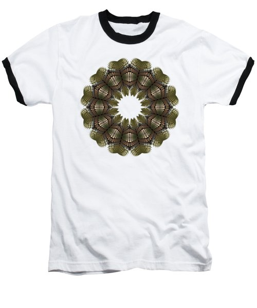 Fractal Wreath-32 Earth T-shirt Baseball T-Shirt