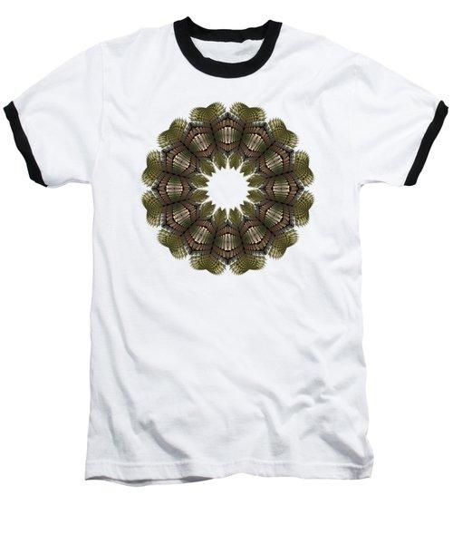 Fractal Wreath-32 Earth T-shirt Baseball T-Shirt