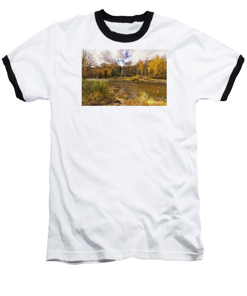 Baseball T-Shirt featuring the photograph Franconia Iron Works by Anthony Baatz