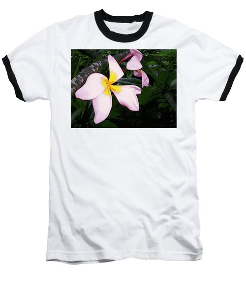 Baseball T-Shirt featuring the digital art Frangipani Moment by Winsome Gunning