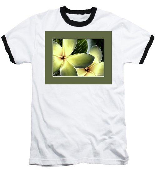 Frangipani - Plumeria Baseball T-Shirt