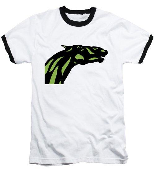 Fred - Pop Art Horse - Black, Greenery, Island Paradise Blue Baseball T-Shirt