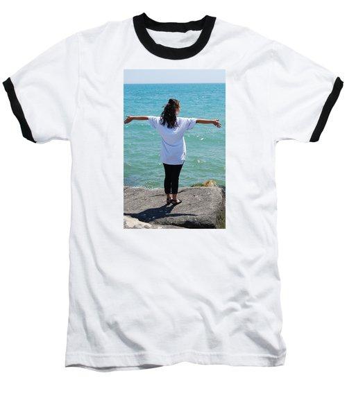 Baseball T-Shirt featuring the photograph Freedom by Ramona Whiteaker