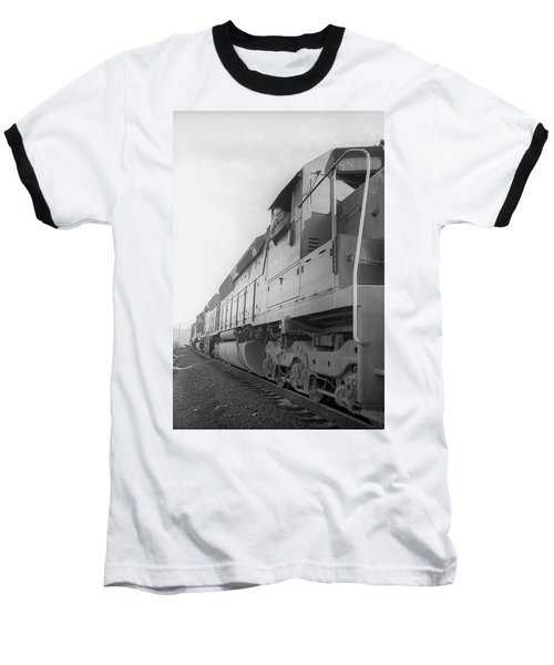 Baseball T-Shirt featuring the photograph Freight Train Parked On Siding. by Frank DiMarco