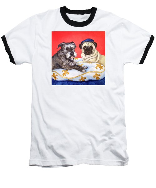Baseball T-Shirt featuring the painting French Friends by Laura Aceto