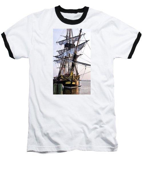French Tall Ship Hermione  Baseball T-Shirt by John S