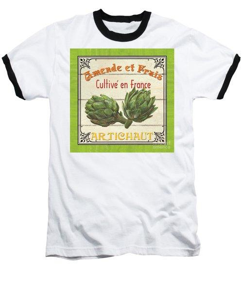 French Vegetable Sign 2 Baseball T-Shirt by Debbie DeWitt