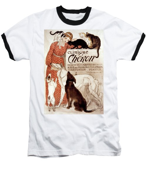 French Veterinary Clinic Baseball T-Shirt