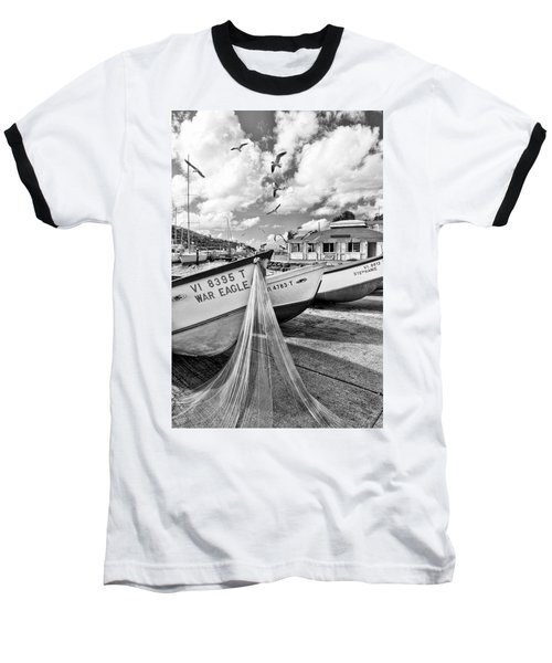 Frenchtown Fishing Boats 1 Baseball T-Shirt