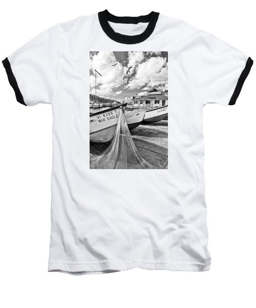 Frenchtown Fishing Boats 1 Baseball T-Shirt