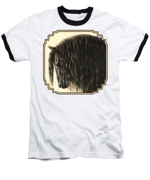 Friesian Horse Phone Case Baseball T-Shirt
