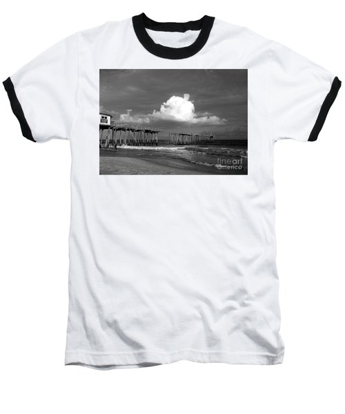 Frisco Pier 2015 B And W  Baseball T-Shirt