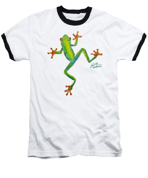 Red Eyed Tree Frog By Jan Marvin Baseball T-Shirt