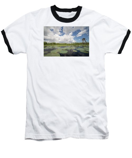 From A Frog's Point Of View - Lake Okeechobee Baseball T-Shirt by Christopher L Thomley