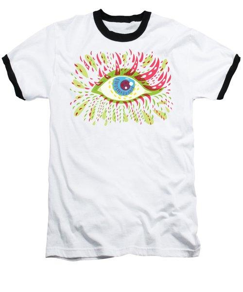 From Looking Psychedelic Eye Baseball T-Shirt by Boriana Giormova