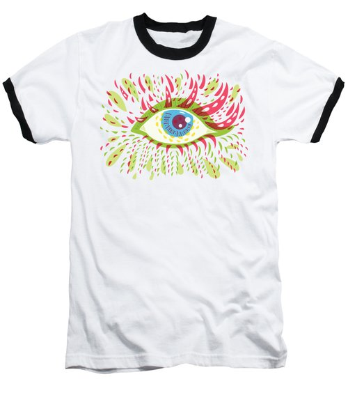 From Looking Psychedelic Eye Baseball T-Shirt