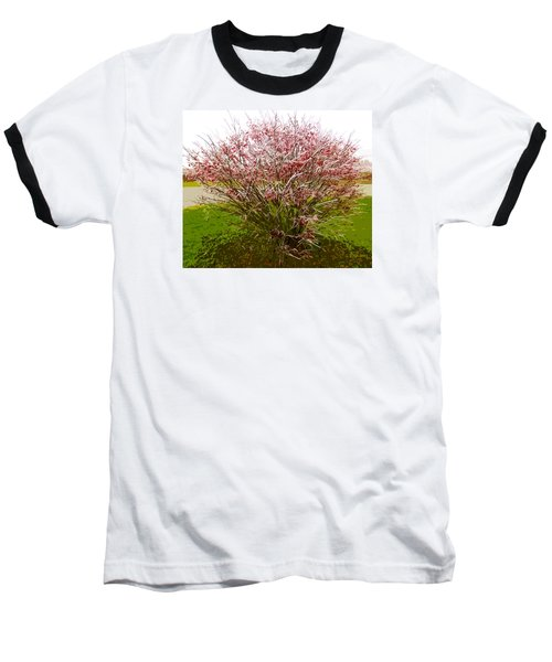 Baseball T-Shirt featuring the photograph Frosty Fire Bush by Spyder Webb