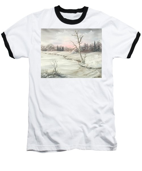 Frosty Winter Morning  Baseball T-Shirt