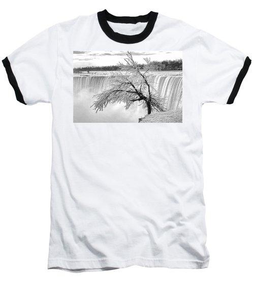 Frozen Tree Near Niagara Falls Baseball T-Shirt by Alex Galkin
