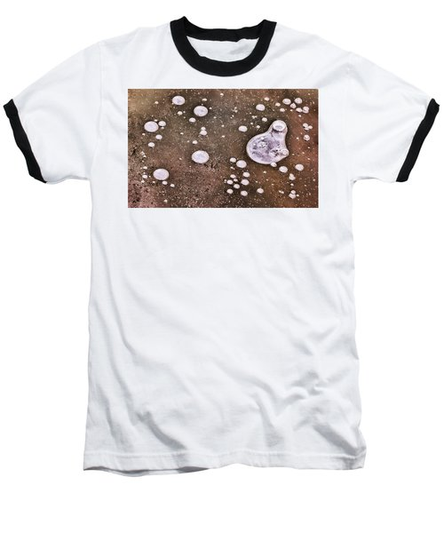 Baseball T-Shirt featuring the photograph Frozen Water Drops Abstract by Gary Slawsky