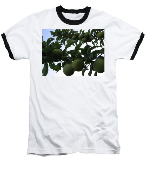 Baseball T-Shirt featuring the photograph Fruit And Sky_raindrops by Barbara Yearty
