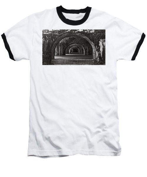 Ft. Pickens Arches Bw Baseball T-Shirt