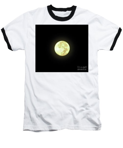 Full Moon August 2014 Baseball T-Shirt by D Hackett