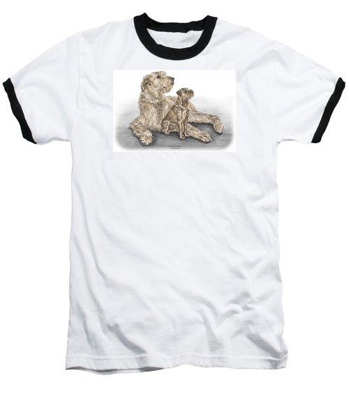Full Of Promise - Irish Wolfhound Dog Print Color Tinted Baseball T-Shirt