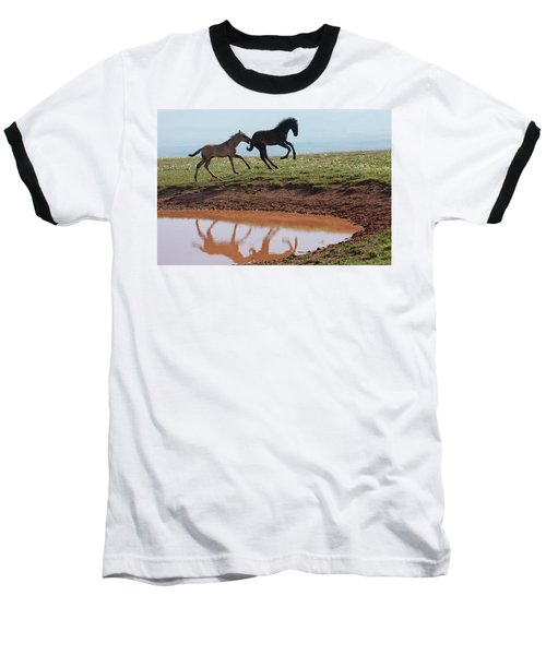 Fun In The Rockies- Wild Horse Foals Baseball T-Shirt