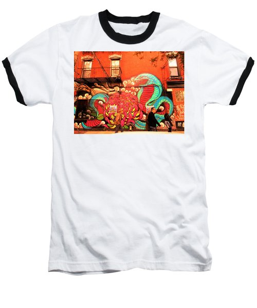 Funky Brooklyn Fire Escape  Baseball T-Shirt