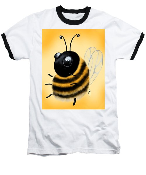 Baseball T-Shirt featuring the painting Funny Bee by Veronica Minozzi