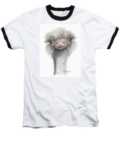 Funny Face Baseball T-Shirt by Phyllis Howard