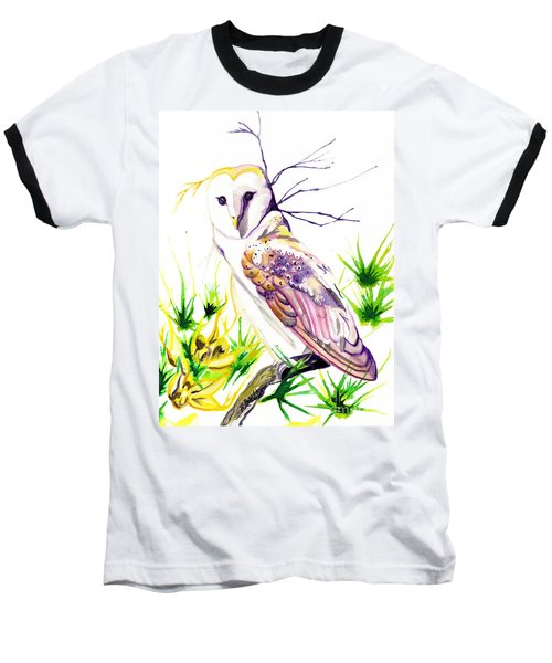 Baseball T-Shirt featuring the painting Furze Wisdom by D Renee Wilson