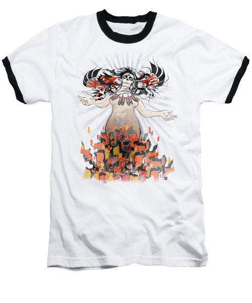 Gaia In Turmoil Baseball T-Shirt by Sassan Filsoof