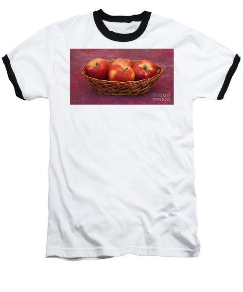 Gala Apple Basket Baseball T-Shirt
